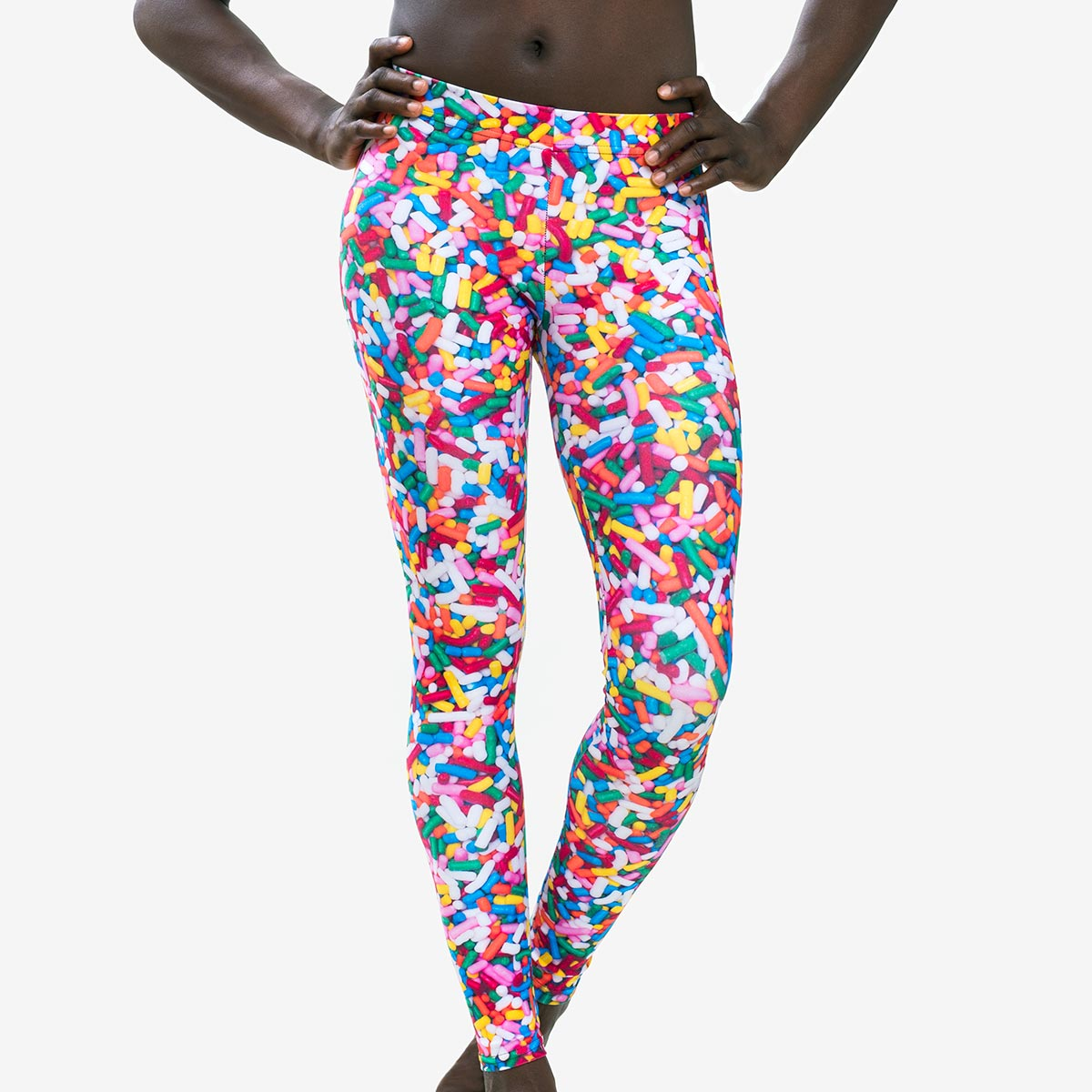 cake sprinkle leggings