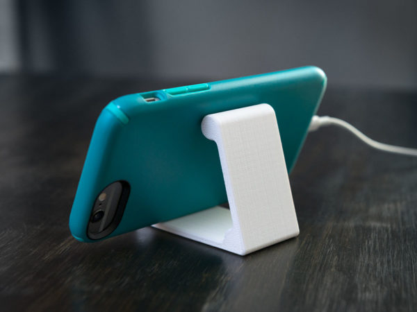 white phone stand biodegradable